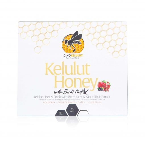 Madu Kelulut Stingless Bee Trigona Honey Bird's nest with Mixed Fruit Extract In sachet. Quick and made simple to drink