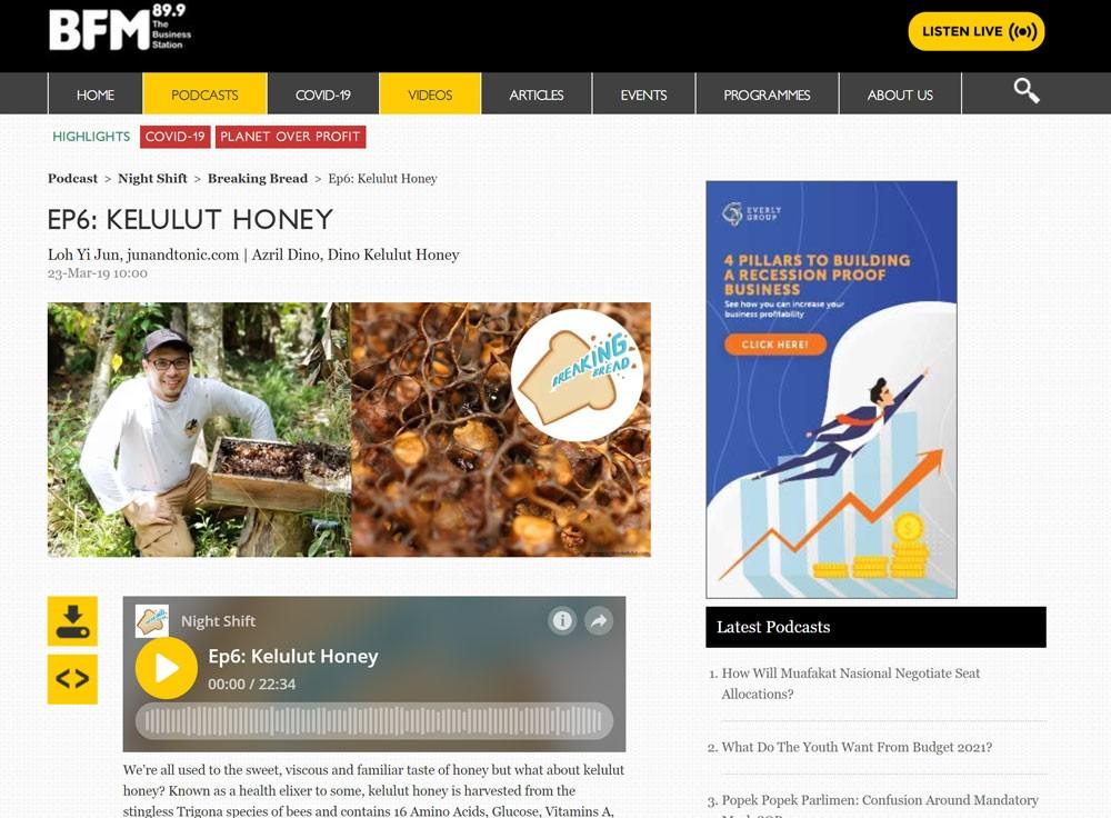 dinokelulut - BFM 89.9 Kelulut honey